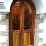 Iroko curved pr doors